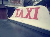 Taxi car — Stock Photo