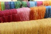 Raw silk thread  — Stock Photo