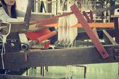 Tkaní vlákna pro textilní průmysl — Stock fotografie