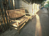 Vintage bench chair — Foto de Stock