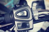 Motorcycle handlebars — Stock Photo