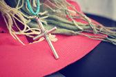 十字架项链 — 图库照片