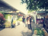 Blurred of shopping mall — ストック写真