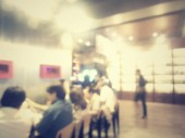 Blurred of restaurant — Stock Photo