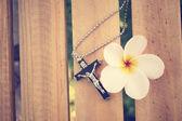 Necklace with cross — Foto de Stock