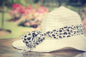 Hat with garden — Stock Photo