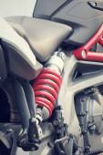 Shock absorber motorcycle — Stock Photo