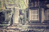 Ancient window - cambodia art — Stock Photo