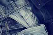 Pilha de jeans — Fotografia Stock