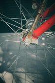Vintage bicycle wheel — Stock Photo