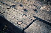 Screw with wood — Stock fotografie