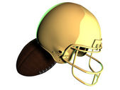 Gold american football helmet — Stock Photo