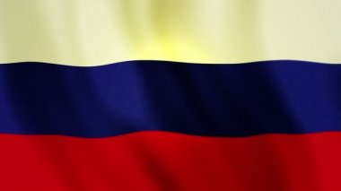 Full screen Russian federation flag FHD — Stock Video