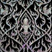 Thai art with mother of pearl inlay — Stock Photo