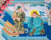Chinese mural painting art — Stock Photo