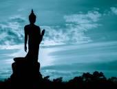 仏像のシルエット — ストック写真