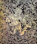 Thai gold leaf painting — Stock Photo