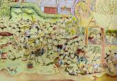 Thai mural painting art — Stock Photo