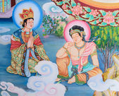 Chinese mural painting art — Stock Photo