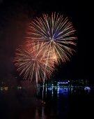 Beautiful firework at Pattaya beach, Thailand  — Zdjęcie stockowe