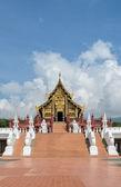 Beautiful Thai Royal pavilion in Lanna style, Thailand — Stockfoto