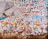 Thai mural painting art — Foto Stock