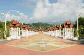 Beautiful walkway to the Royal pavilion in Lanna style, Thailand — Photo