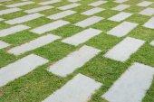Stone pave decorated background — Stock Photo