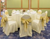 Banquet table for an event party or wedding — Stockfoto