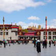 Jokhang temple is located on Barkhor Square in Lhasa, Tibet — Stock Photo #63679003