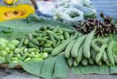 Fresh vegetables on street market in Thailand — Stock Photo