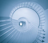 A low angle view of a spiral staircase — Stock Photo