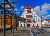 Grossraeschen half-timber house — Stock Photo
