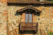 Grazzano visconti balkon — Zdjęcie stockowe