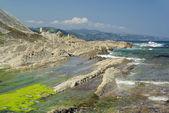 Costa vasca poblíž zumaia — Stock fotografie
