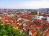 Graz townhall and roofops — Stock Photo