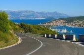 Coast road in Trogir city — Stock Photo