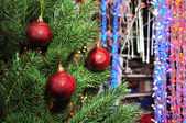 Photo of Christmas tree in a toy store — Stock Photo
