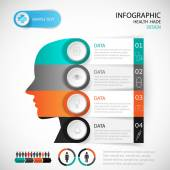 Medical Infographic Design head template. graphic or website lay — Stock Vector