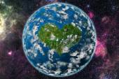 Heart planet — Stock Photo