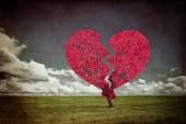 Broken heart tree — Stock Photo