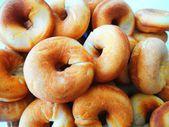 Baking donuts beautiful background — Stock Photo