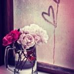 Beautiful roses in vase — Stock Photo #57443017