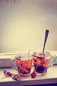 Cups of herbal tea — Foto de Stock