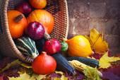 Seasonal fruits and vegetables — Stock Photo