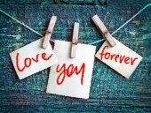 Cartolina di San Valentino con parole d'amore — Foto Stock