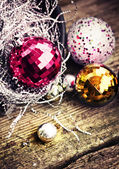 Background with Vintage  Christmas decorations — Stock Photo
