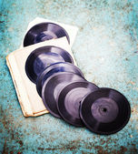 Old vinyl records — Stock Photo