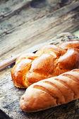 Fresh baked rustic bread — Stock Photo