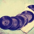 Постер, плакат: Old vinyl records